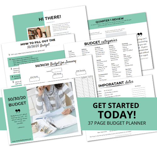 50/30/20 budget printable budget planner pages