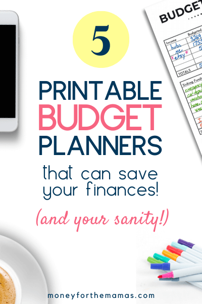 5 printable budget planners to save your sanity