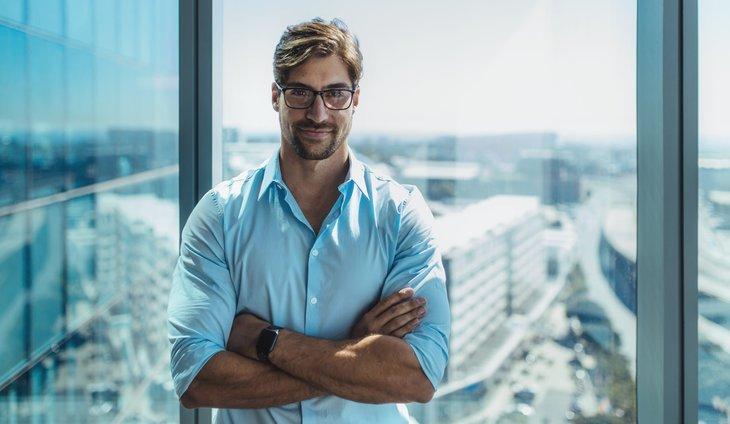 Smiling businessman or investor