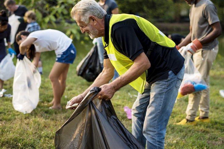 Senior volunteer