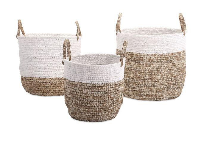 Timeless fabric basket set