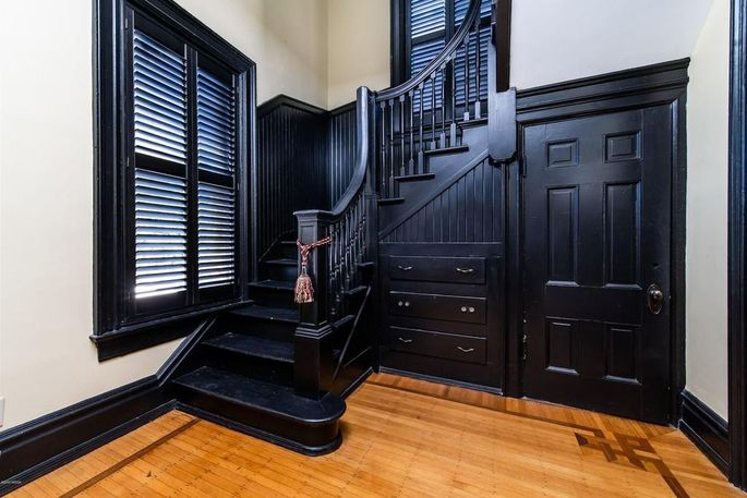 Back staircase to kitchen