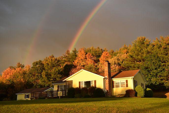 Katerina Rieckel's farmhouse in upstate New York