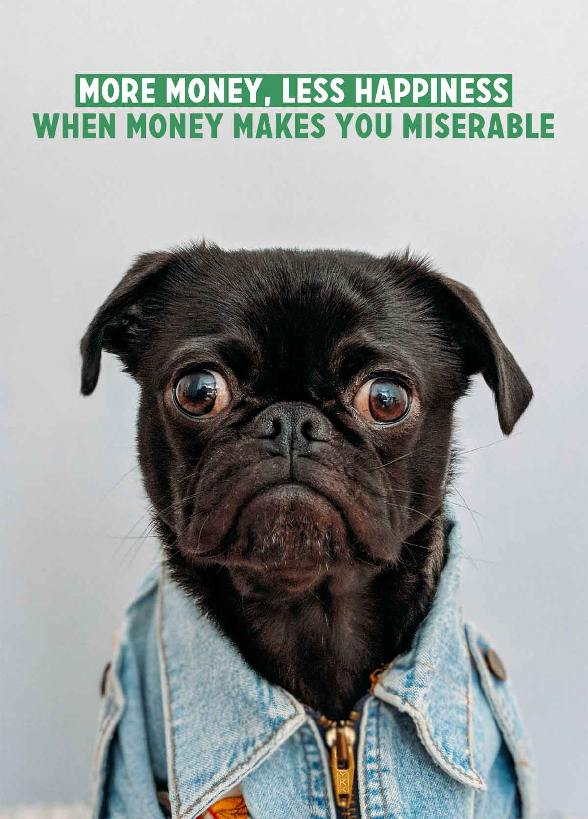 More money, less happiness: When money makes you miserable