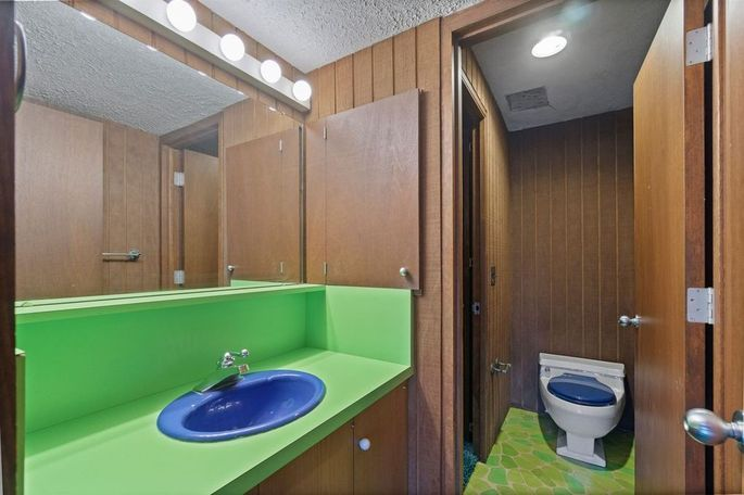 Lower-level bathroom