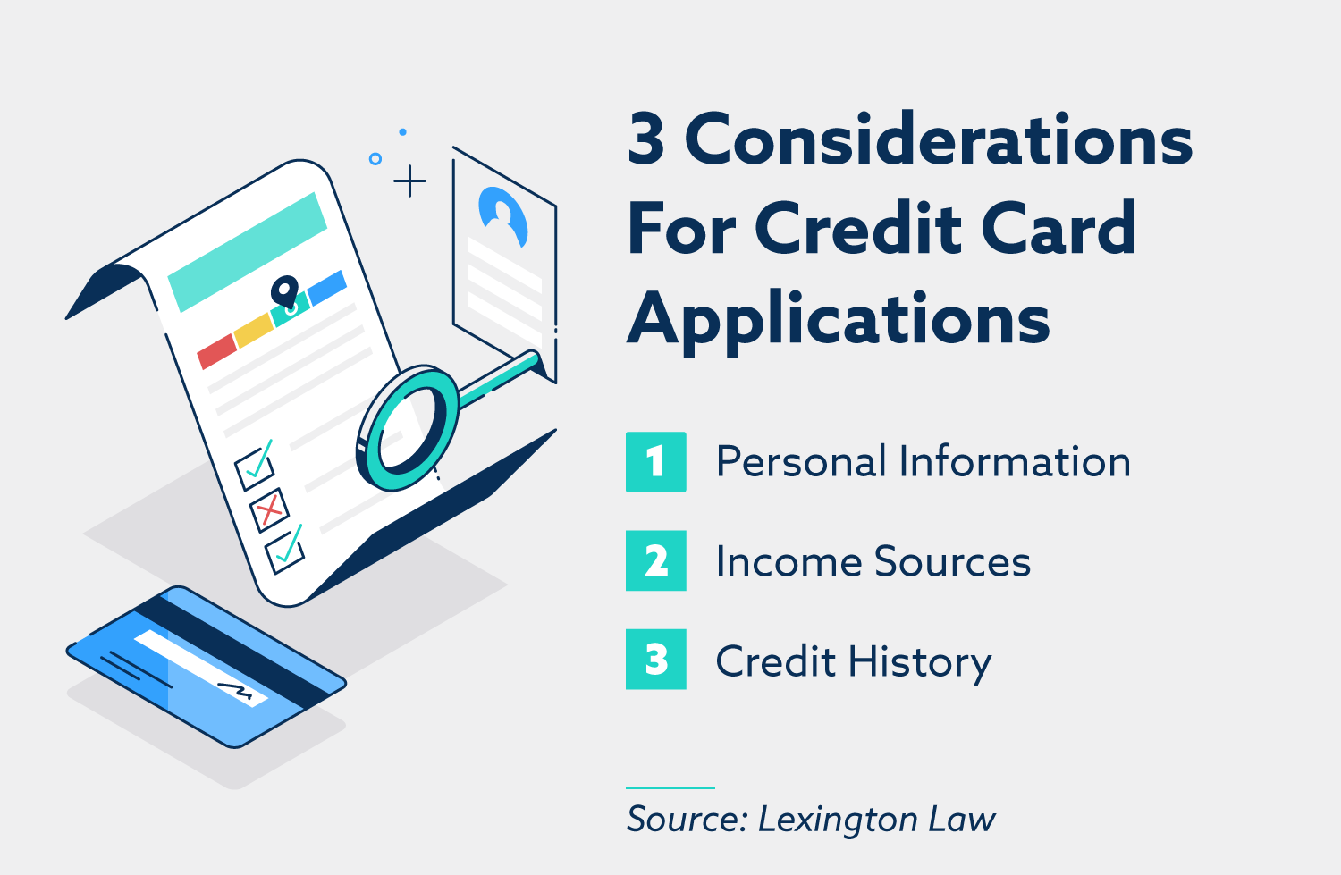 3 considerations for credit card applications