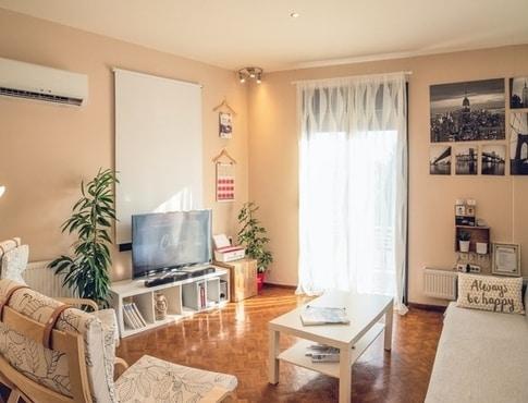decorated apartment living room